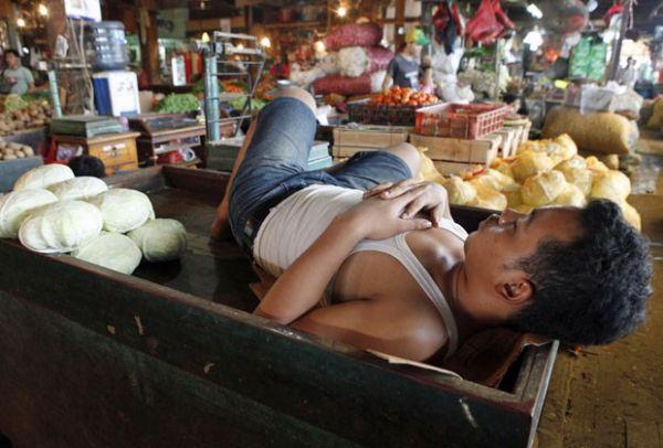 Vendedores indonésios