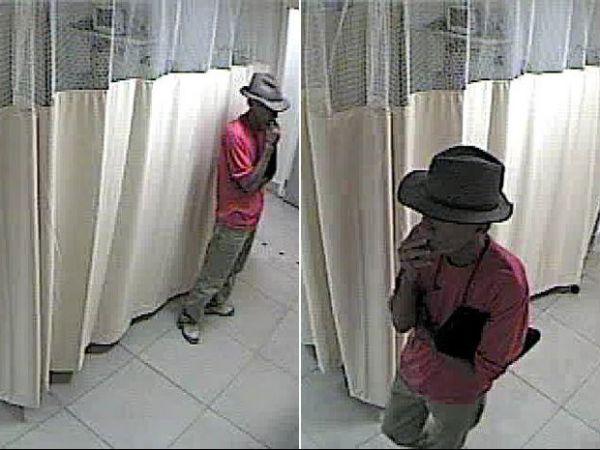 Câmera flagra homem furtando bolsas de pacientes em clínica