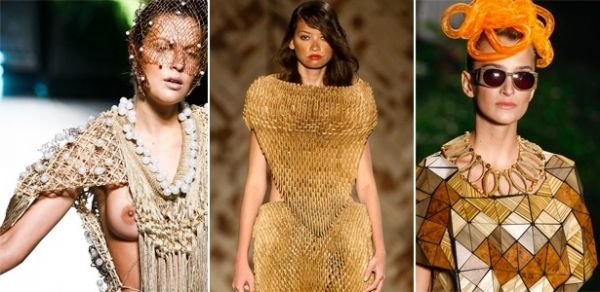 Moda: Marcas brasileiras apostam e usam madeira, palha e até papel