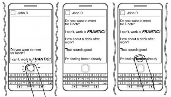 Patente mostra mensageiro do BlackBerry que detecta emoções