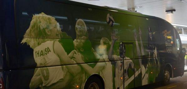 Cielo agradece homenagem em ônibus da delegação brasileira em Londres