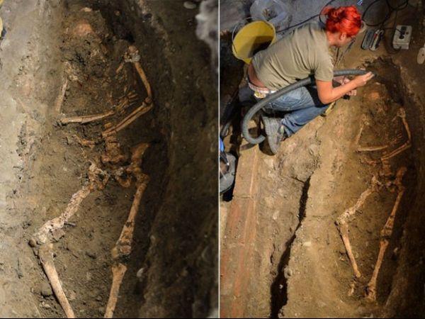 Arqueólogos desenterram ossada que pode ser da