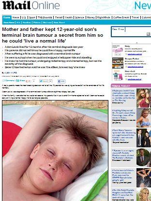 Pais guardam segredo de filho com câncer terminal para que ele morra feliz