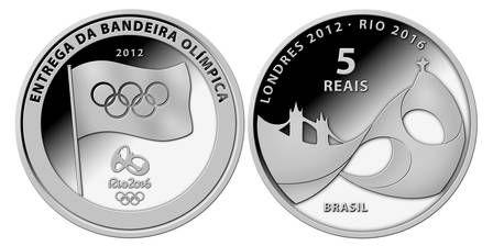 Brasil terá moedas comemorativas em homenagem à bandeira olímpica