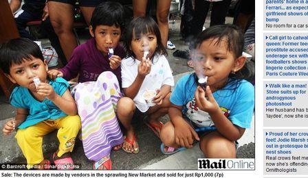 Cachimbo de brinquedo faz sucesso na Indonésia e gera polêmica