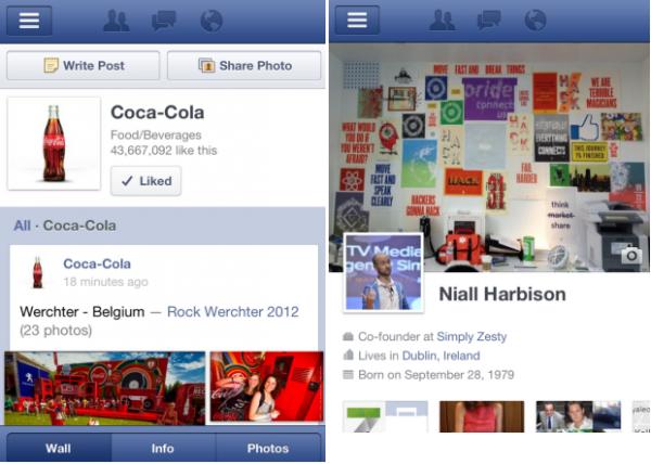 Facebook vai receber atualização nas páginas para dispositivos mobile