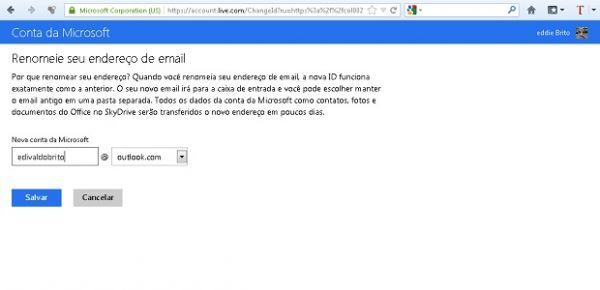 Como substituir seu login de e-mail do Hotmail para o novo Outlook.com?