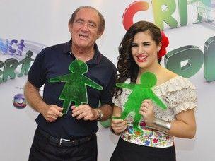 Famosos participam da gravaçao do show beneficente Criança Esperança, no Rio