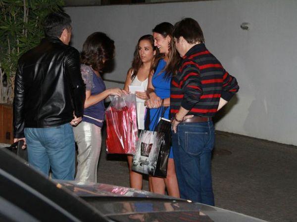 Faustão e mulher jantam com Bonner e Fátima Bernardes no RJ