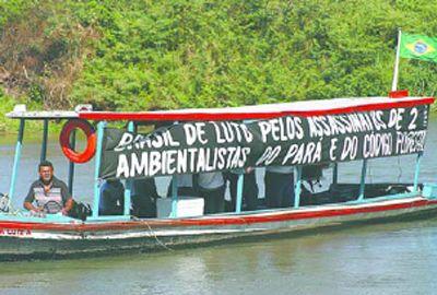 Protesto denuncia poluição do rio Parnaíba
