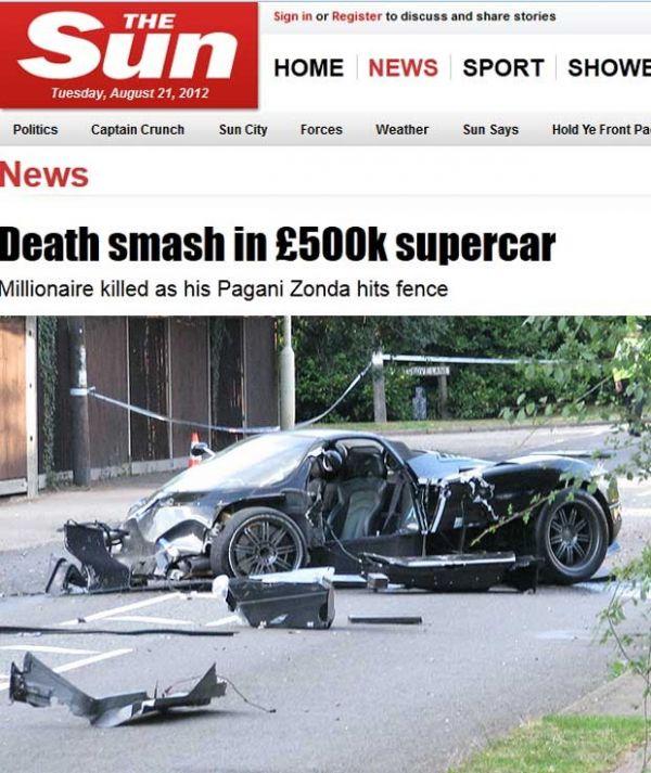 Milionário morre após bater carrão de R$ 1,6 milhão em cerca na Inglaterra