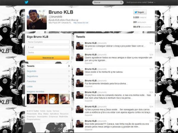 Pelo Twitter, cantor Bruno fala de dificuldade para dobrar o braço