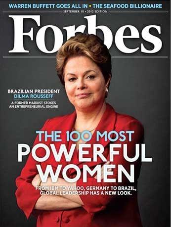 Dilma é capa da revista Forbes e fica em 3º no ranking de mais poderosas do mundo
