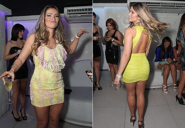 Com vestido justíssimo, ex-BBB Fani Pacheco lança coleção