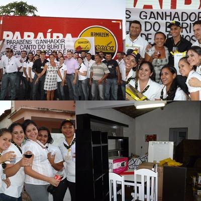 Caminhão da Sorte do Armazém Paraíba entrega Prêmios a mais uma Sortuda.