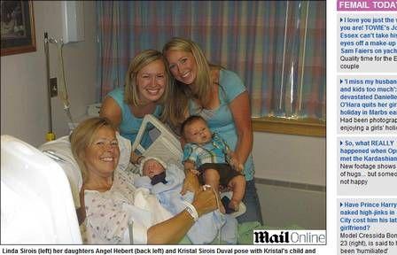 Mulher se oferece para ser barriga de aluguel e dá à luz o neto