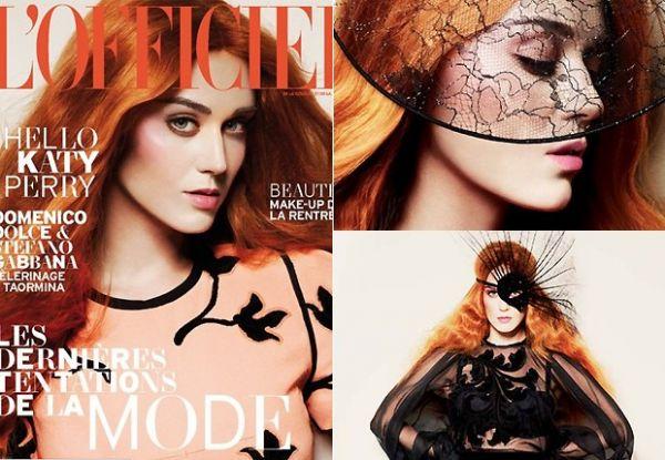 Katy Perry aparece ruiva em ensaio para revista