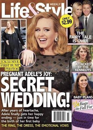 Revista norte-americana afirma que Adele se casou em segredo