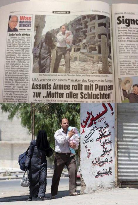 Jornal forja fotografia para ilustrar massacre na Síria