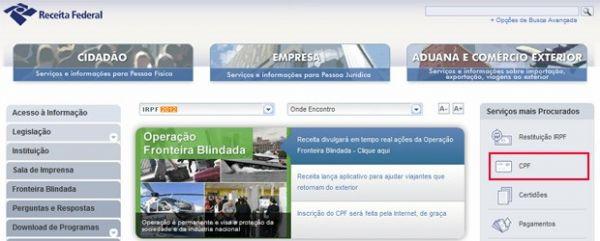 Veja o passo a passo para tirar o CPF gratuito pela internet