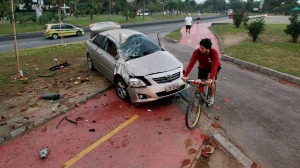Ator Rafael Zulu sofre acidente no Aterro do Flamengo: