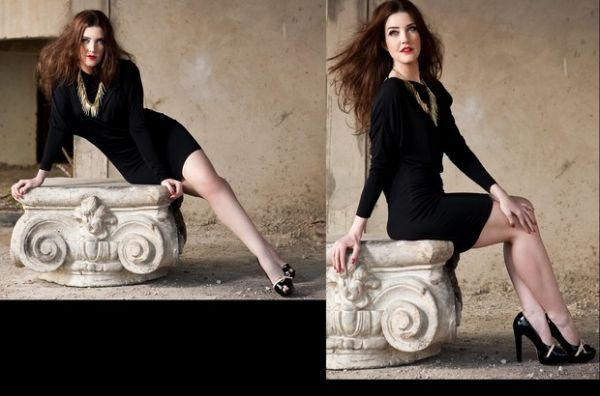 Larissa Maciel aparece bem chique em ensaio de moda para blog