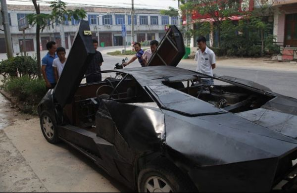 Chinês desembolsa R$ 19 mil, mistura carros e constrói Lamborghini