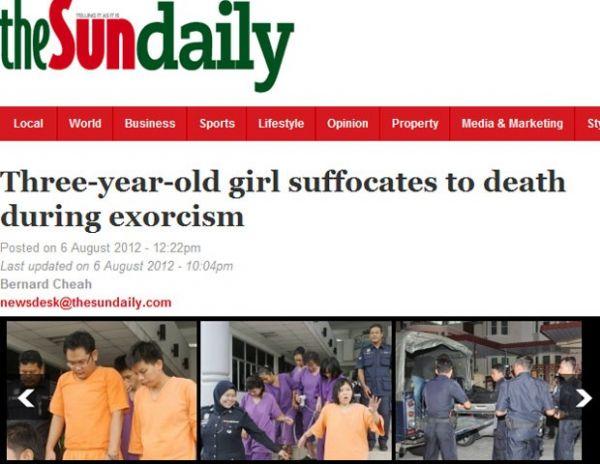 Família é presa após menina de 3 anos morrer em ritual de exorcismo