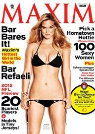 Bar Refaeli é eleita a mulher mais sexy do ano pela revista â??Maximâ??