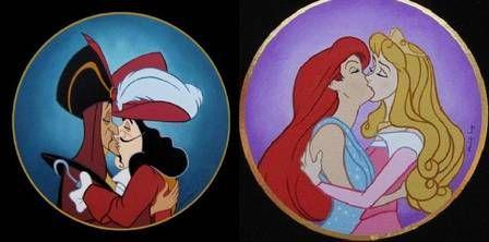 Exposição mostra beijos gays entre personagens da Disney