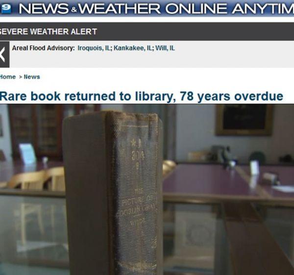 Livro volta a biblioteca pública 78 anos após empréstimo