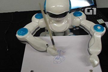 Robô desenhista cria obras a partir de fotos