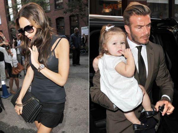 Após estreia como estilista, Victoria Beckham janta com a família