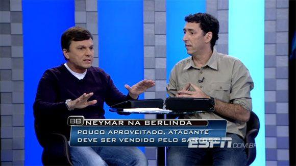 Discussão sobre Neymar quase acaba em briga ao vivo na TV
