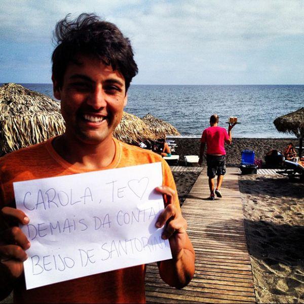Bruno De Luca manda parabéns para Dieckmann direto da Grécia