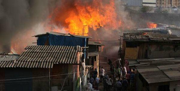 Preso suspeito de iniciar incêndio em favela;80 barracos queimados