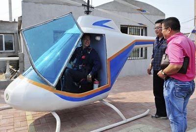 Ferreiro chinês constrói sozinho helicóptero em apenas 15 dias