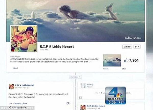 Perfil falso no Facebook faz mãe acreditar que filho de sete anos morreu