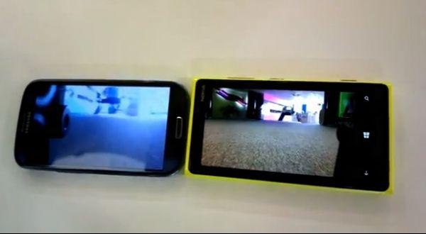 Contra Lumia 920, Galaxy S3 perde feio em gravação de vídeos