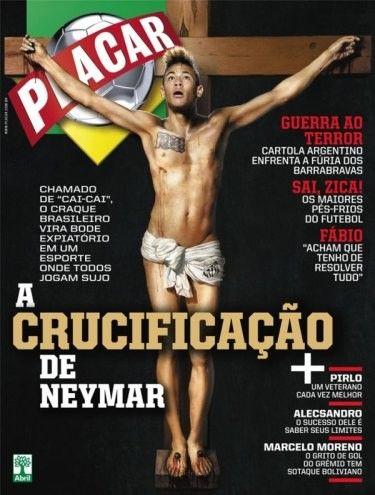 Neymar é crucificado como Jesus Cristo em capa de revista