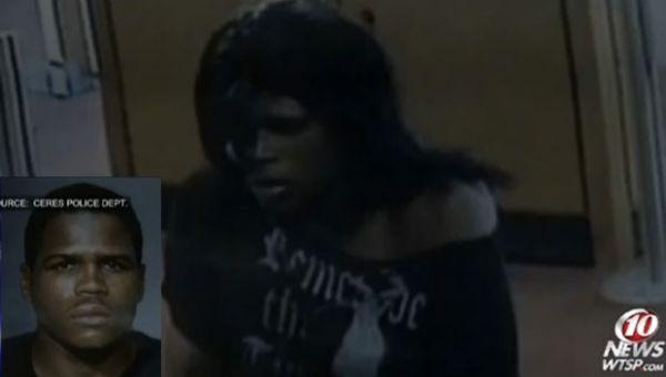Ladrão se veste de mulher para assaltar banco na Califórnia