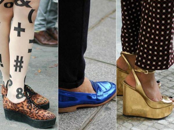 Sapatos se destacam nas produções dos fashionistas em Paris
