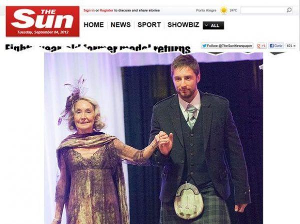 Aos 80 anos, escocesa é sensação em desfile de moda