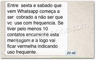 Boatos de que app WhatsApp se tornaria pago são falsos, diz site