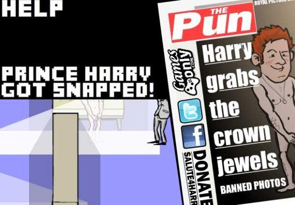 Escândalo com fotos do príncipe Harry nu vira game