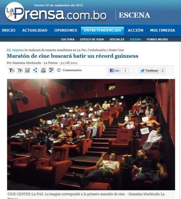 Bolivianos estão há 6 dias sem dormir em maratona de filmes