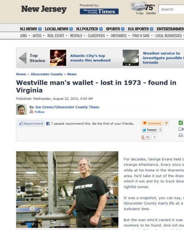 Homem recebe de volta carteira perdida havia quase 40 anos