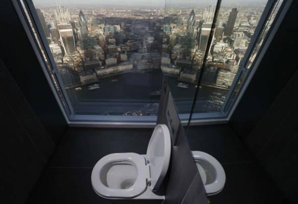 Prédio mais alto da Europa ocidental tem banheiros com vista panorâmica