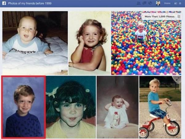 Facebook divulga foto de Mark Zuckerberg criança com nova busca
