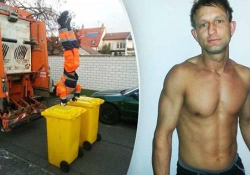 Coletor alemão faz sucesso ao fazer acrobacias enquanto recolhe o lixo